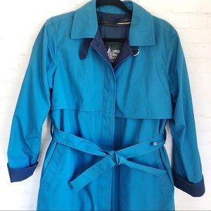 [London Fog] blue trench coat thinsulate liner 10P